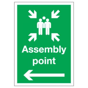 Assembly Point with Arrow Left