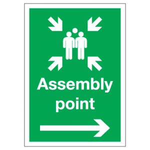 Assembly Point with Arrow Right