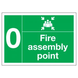 Fire Assembly Point Numbered