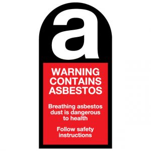 Asbestos Safety Label