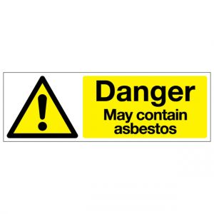 Danger May Contain Asbestos