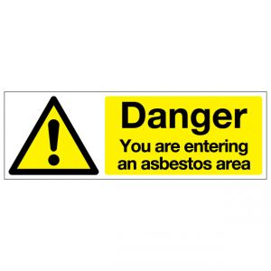 Danger You Are Entering An Asbestos Area
