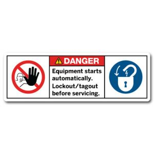 Equipment Starts Automatically Lockout And Tagout Before Servicing