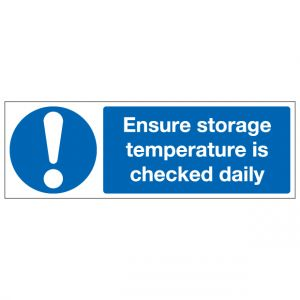 Ensure Storage Temperature Is Checked Daily