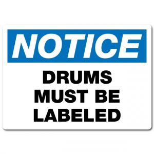 Drums Must Be Labeled