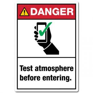 Danger Test Atmosphere Before Entering