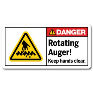 Rotating Auger Keep Hands Clear