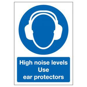 High Noise Levels Use Ear Protectors