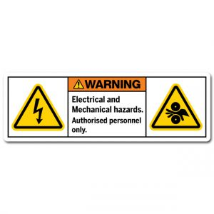 Electrical And Mechanical Hazards Authorised Personnel Only