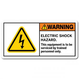 Electric Shock Hazard This Equipment Is To Be Serviced By Trained Personnel Only