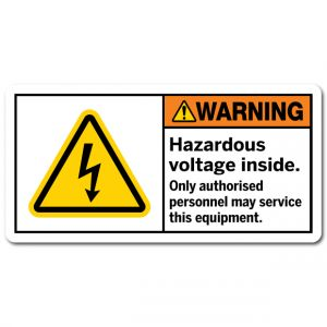 Hazardous Voltage Inside Only Authorised Personnel May Service This Equipment