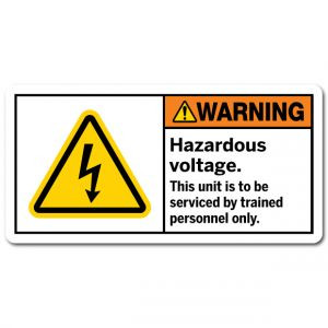Hazardous Voltage This Unit Is To Be Serviced By Trained Personnel Only