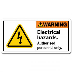 Electrical Hazards Authorised Personnel Only
