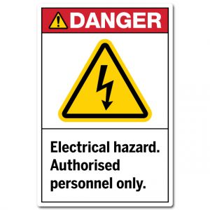 Electrical Hazard Authorised Personnel Only