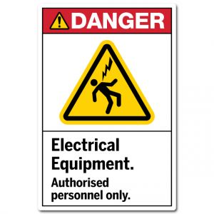 Electrical Equipment Authorised Personnel Only