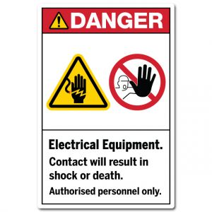 Electrical Equipment Contact Will Result In Shock Or Death Authorised Personnel Only