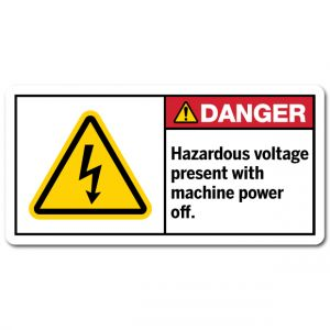 Hazardous Voltage Present With Machine Power Off