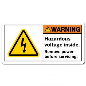 Hazardous Voltage Inside Remove Power Before Servicing