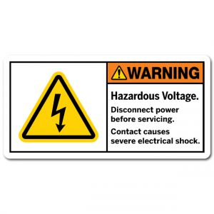 Hazardous Voltage Disconnect Power Before Servicing Contact Causes Severe Electrical Shock