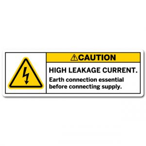 High Leakage Current Earth Connection Essential Before Connecting Supply