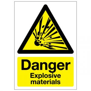 Danger Explosive Materials