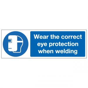 Wear The Correct Eye Protection When Welding