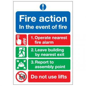 Fire Action Notice In The Event Of Fire