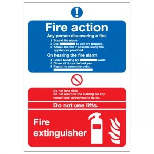 Fire Action Notice Fire Extinguisher
