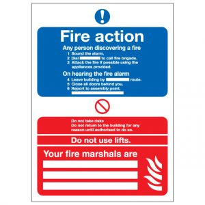 Fire Action Notice Your Fire Marshals Are
