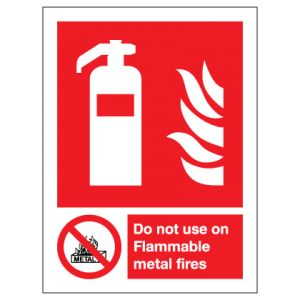 Fire Extinguisher Do Not Use On Flammable Metal Fires