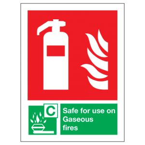 Fire Extinguisher Safe For Use On Gaseous Fires