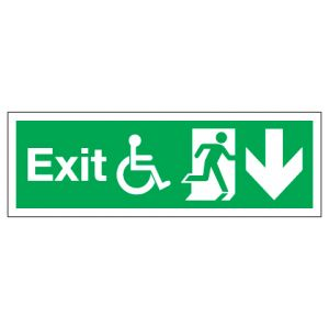 Exit Disabled Access With Down Arrow