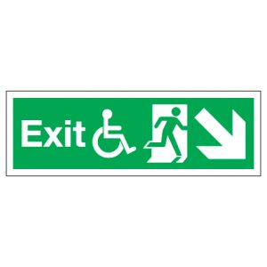 Exit Disabled Access With Down Right Arrow