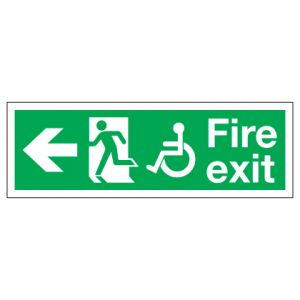 Fire Exit Disabled Access With Left Arrow