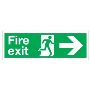 Fire Exit With Right Arrow