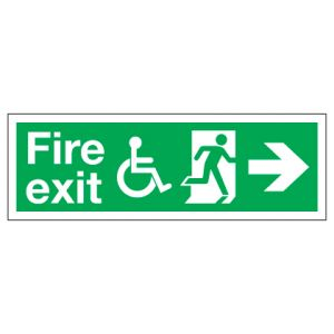 Fire Exit Disabled Access With Right Arrow