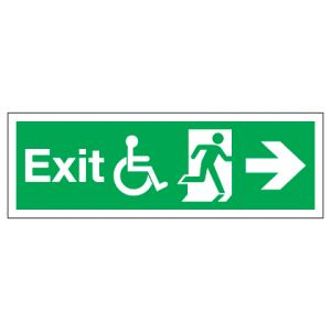 Exit Disabled Access With Right Arrow