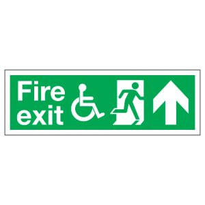 Fire Exit Disabled Access With Up Arrow