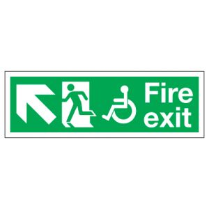 Fire Exit Disabled Access With Up Left Arrow