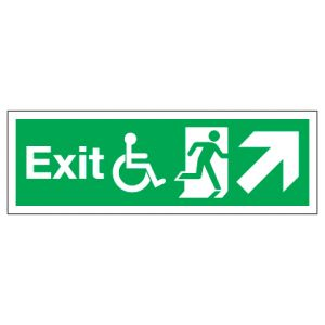 Exit Disabled Access With Up Right Arrow