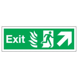 Exit With Up Right Arrow