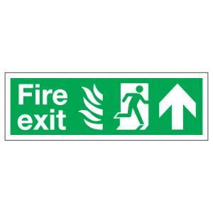 Fire Exit With Up Arrow