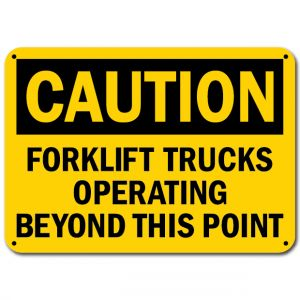 Forklift Trucks Operating Beyond This Point