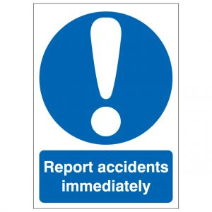 Report Accidents Immediately
