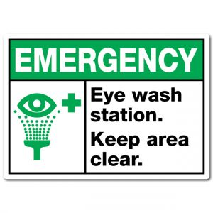Emergency Eye Wash Station Keep Area Clear