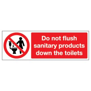 Do Not Flush Sanitary Products Down The Toilets