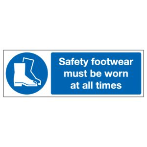 Safety Footwear Must Be Worn At All Times