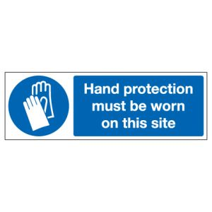 Hand Protection Must Be Worn On This Site