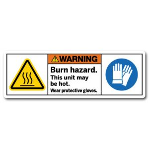 Burn Hazard This Unit May Be Hot Wear Protective Gloves