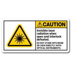 Invisible Laser Radiation When Open And Interlock Defeated Do Not Stare Into Beam Or View Directly With Optical Instruments